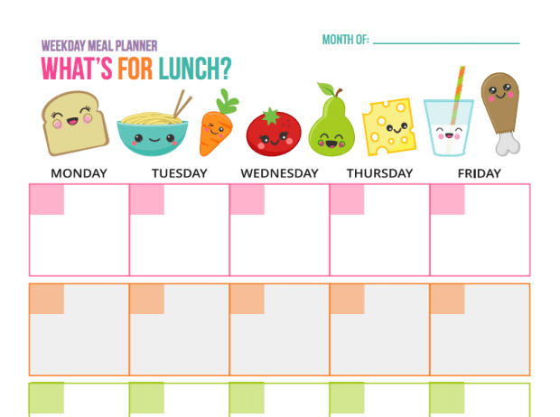 Make a plan for your weekday lunches at the beginning of the month, whether or not you stick to it.