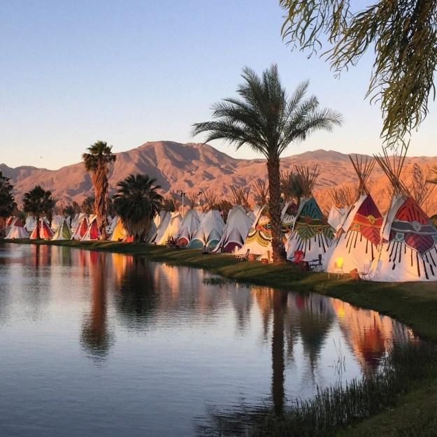Camping auf amerikanischen Festivals: