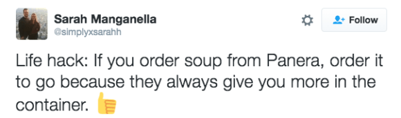 The ol' to-go soup trick: