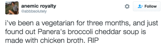 Broc-ched isn't veg: