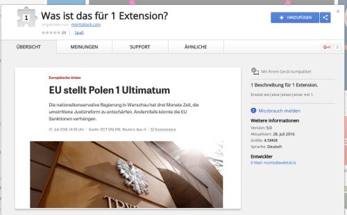 """Du wirst die Chrome-Erweiterung """"Was ist das für 1 Extension"""" lieben."""