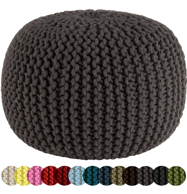 A comfy pouf you'll want to plop down on.