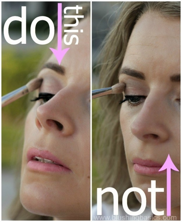 Instead of looking straight ahead in a mirror, tilt your head up and look down as you apply your eyeliner.