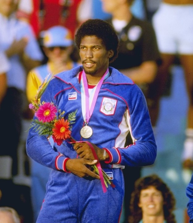 Los Angeles 1984 Games. Athleisure look by Levis.