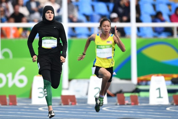 Abuljadayel is one of just four female athletes from Saudi Arabia competing in the Rio games.