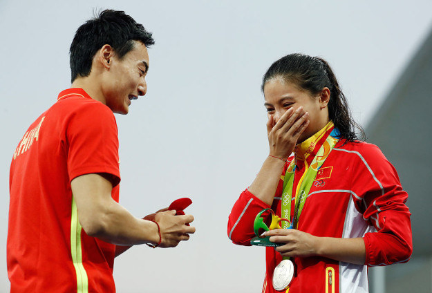 It's the veritable spate —spate, I tell you! — of marriage proposals, the likes of which we've maybe never seen in another Olympics.