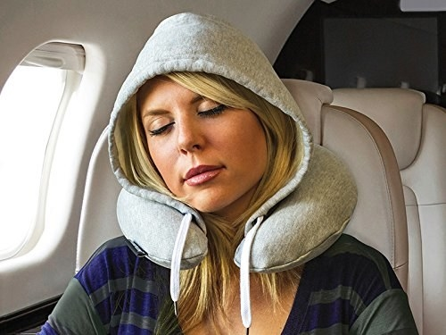This hoodie travel pillow that will make your nap look casual.