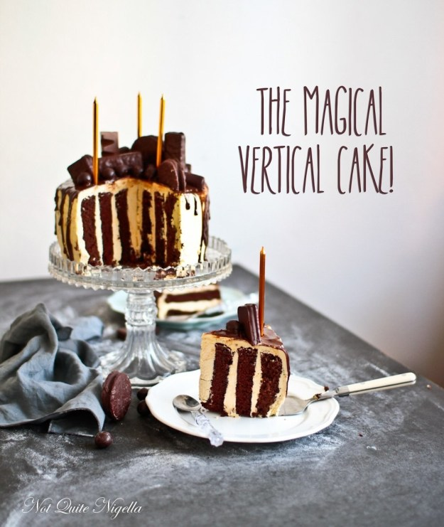 The Gravity Defying Chocolate and Coffee Vertical Cake
