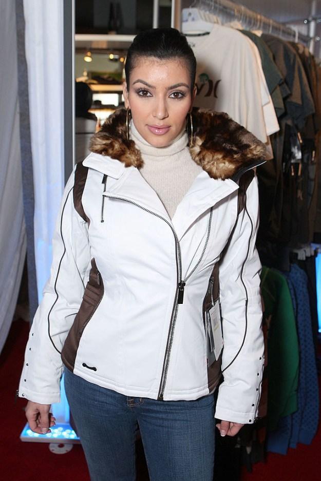 Pose slightly awkwardly in a ski jacket despite being in LA.