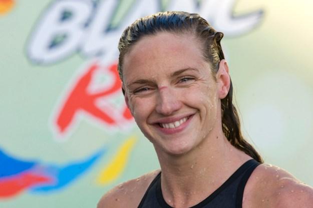 This is Hungarian swimmer Katinka Hosszu.