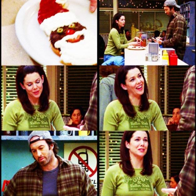 When Luke made Lorelai a Santa burger.