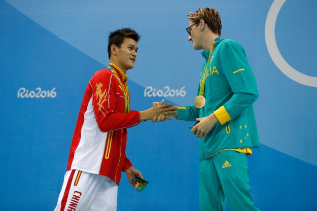 There has been some serious bad blood between him and Sun Yang, the Chinese swimmer who won silver in the final.