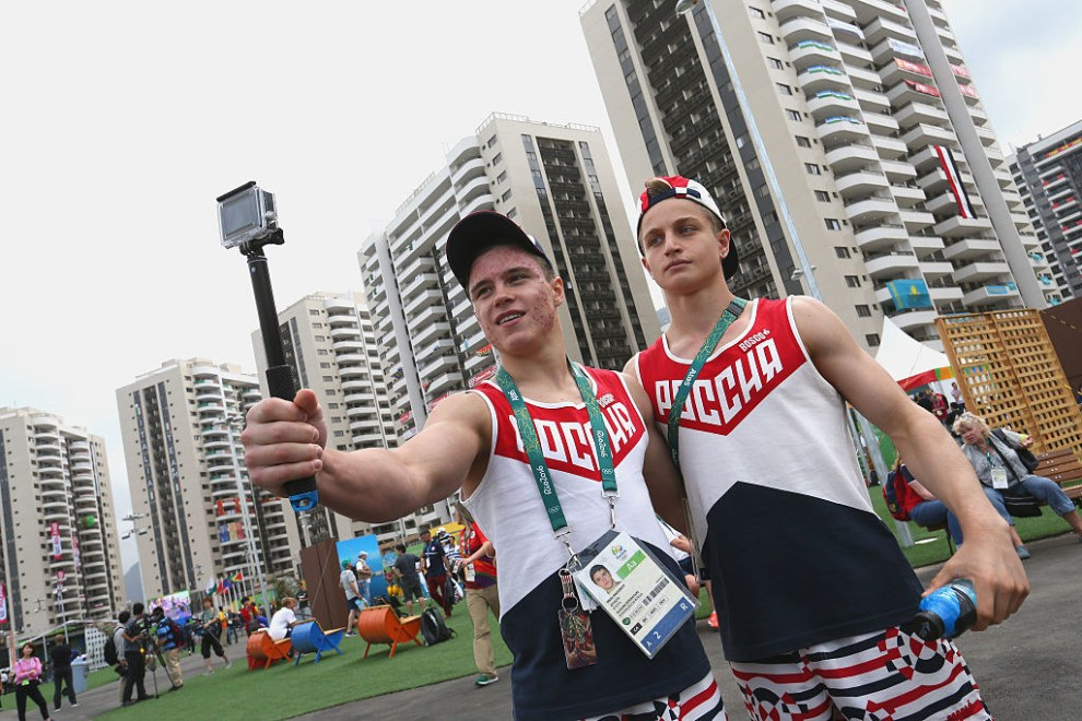 And Russia showing off their selfie stick game.