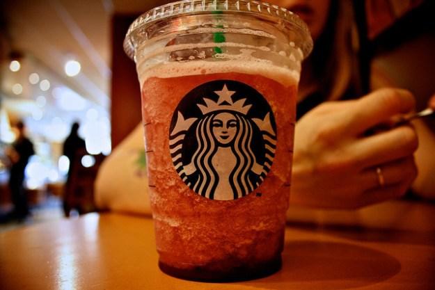 "But it's not regular almond milk, it's Starbucks' own recipe of ""almondmilk."""