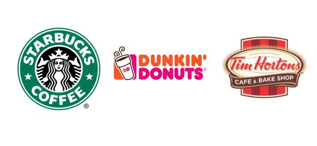 Round 2: Starbucks, Dunkin' Donuts, Tim Horton's