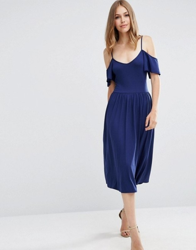This skater style dress that hits just below the knee.