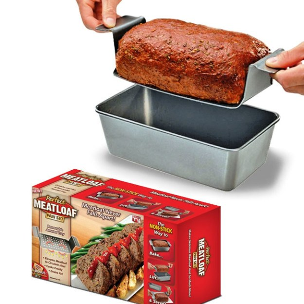 The Perfect Meatloaf Pan, which will make it easy to lift your 'loaf out after baking.