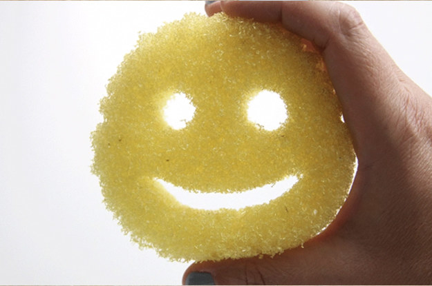 This Scrub Daddy sponge, which changes texture depending on the temperature you're washing with.