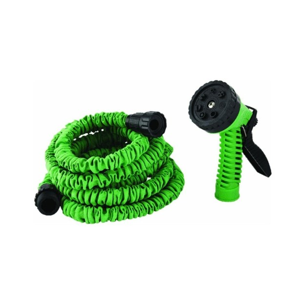 The Pocket Hose, which expands with pressure and contracts into a small form for storage.