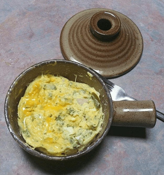 And the Stone Wave Micro Cooker, which easily makes personal omelets.