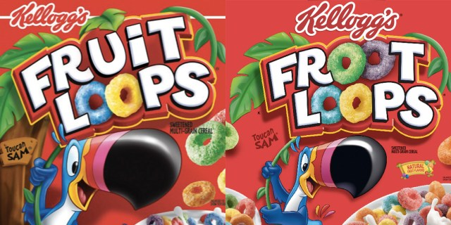 """Some say it was originally """"Fruit Loops"""" and then changed to """"Froot Loops,"""" while others believe it went from """"Froot Loops"""" to """"Fruit Loops."""" Many people claim this change happened during their childhood, while others say they just noticed it in recent months. Whatever you believe, if you google the cereal or find a box in real life, you'll see """"Froot Loops"""" printed across the front. Unless, of course, you're reading this from some other dimension."""