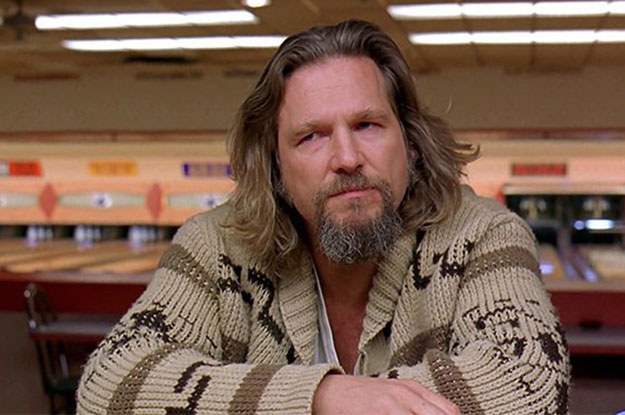 It's basically the exact same sweater that The Dude wears in The Big Lebowski.