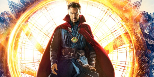 The actor is currently portraying Doctor Strange in Marvel's latest big-screen movie.