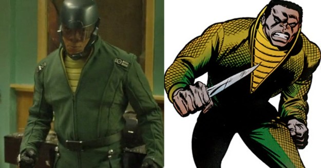 Diamondback's costume in the season finale is also a tribute to the his character in the comics.