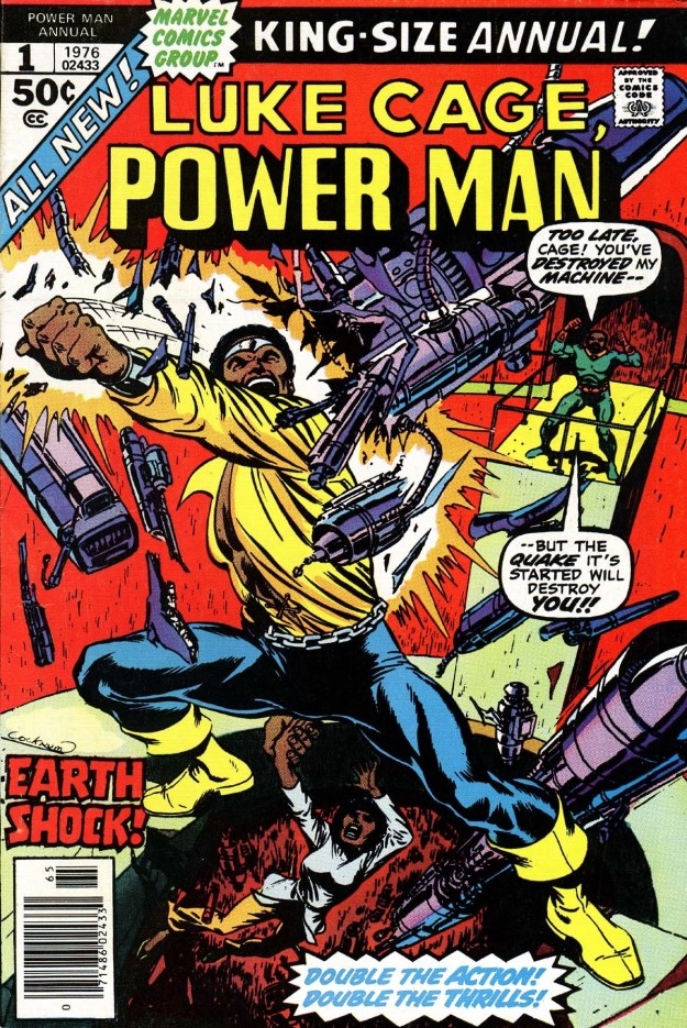 "At some point, Pop refers to Luke as ""Power Man"", which was the title of the Luke Cage comics for a while."