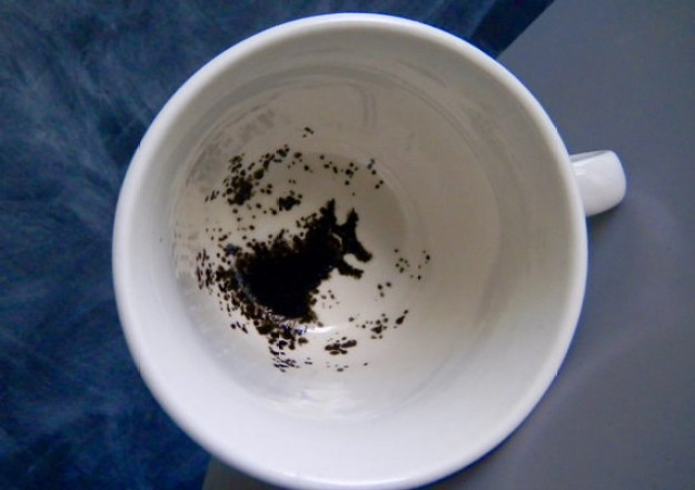 A tea cup that shows the grim.