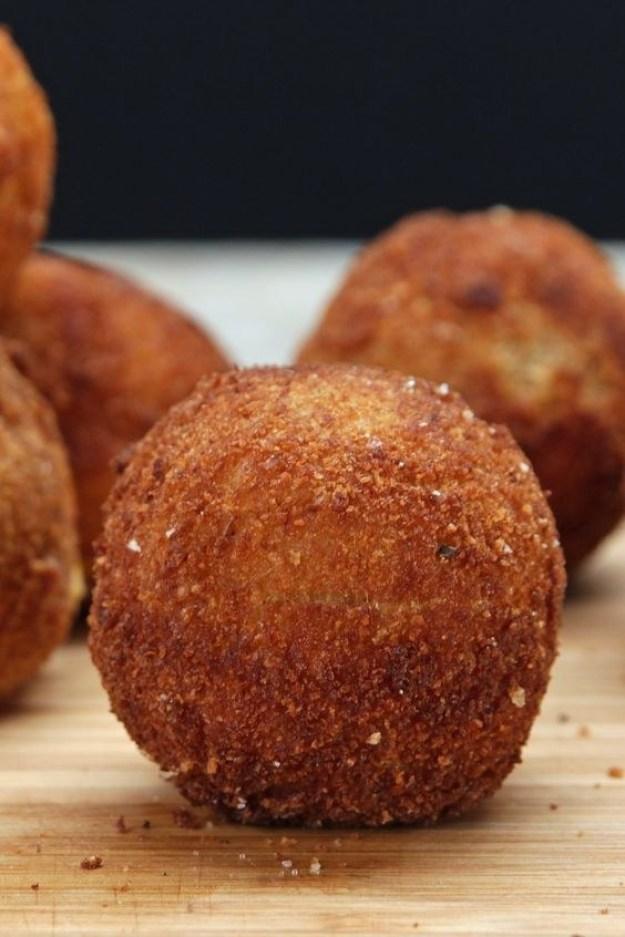 Loaded Cheese-Stuffed Mashed Potato Balls