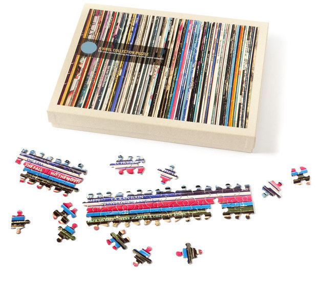 The Vinyl Collection Jigsaw Puzzle lets you piece together vinyl records that you wish you owned!