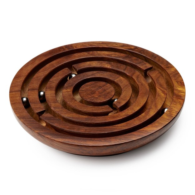 This Wooden Labyrinth Board is a handcrafted classic that will probably last multiple lifetimes.