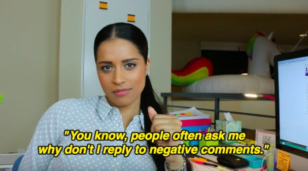 """Lilly """"Superwoman"""" Singh just admitted why she doesn't address negative comments, in a video titled """"How To Make A Sandwich""""."""