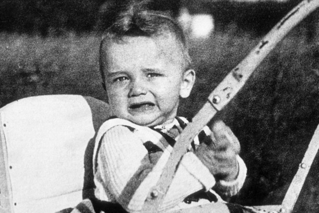 Arnold Schwarzenegger as a 6 month old in 1948.
