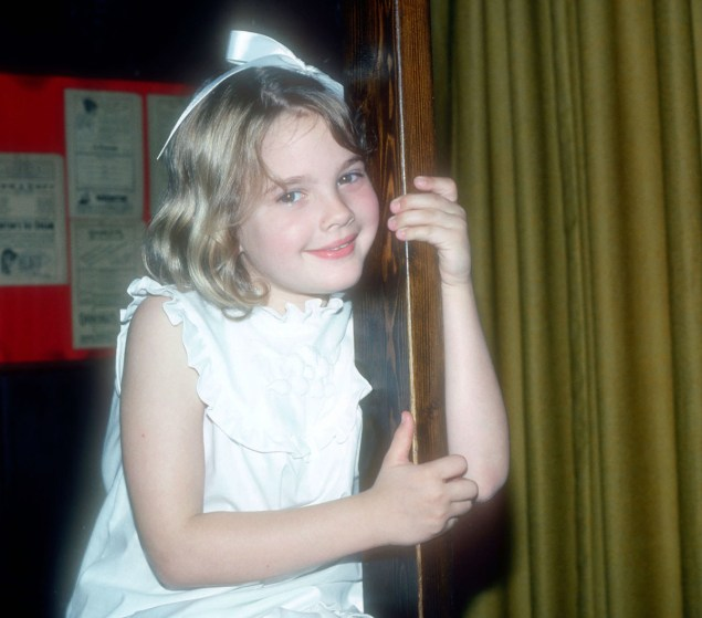 Drew Barrymore as a 7 year old in 1982.