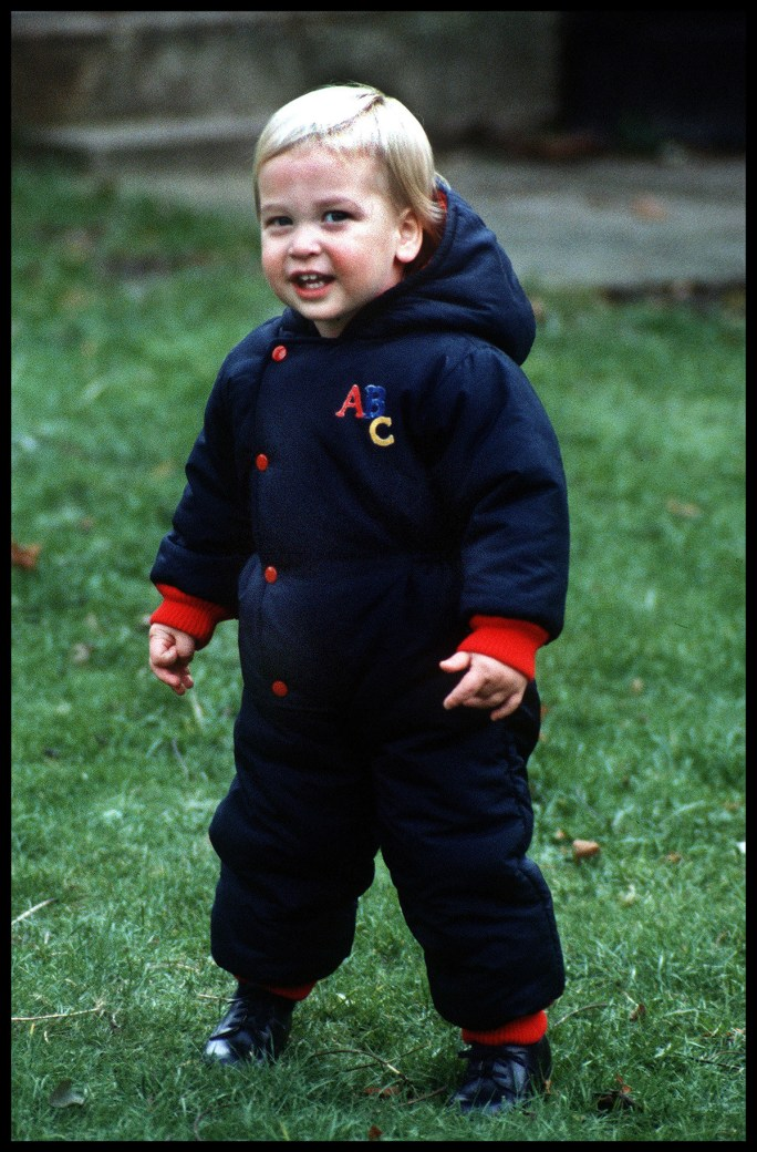 Prince William as a toddler in 1983.