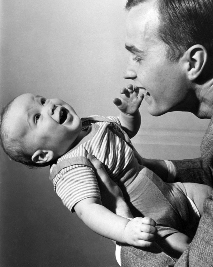 George W. Bush as a 1 year old in 1946.