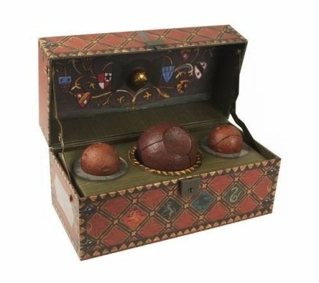 A collectible Quidditch set that will, as Harry said to Malfoy, knock you off your broom.