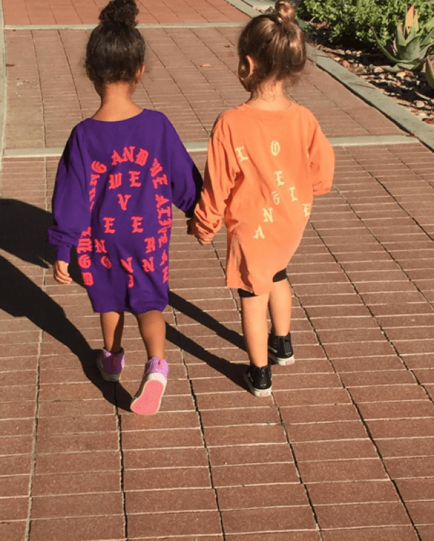 "Today, Kourtney posted a photo on Instagram of her daughter, Penelope, and her niece, North, holding hands with the caption: ""For our future, I'm with her."""
