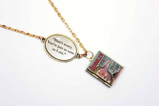 A locket necklace with words of wisdom from none other than Luna Lovegood.
