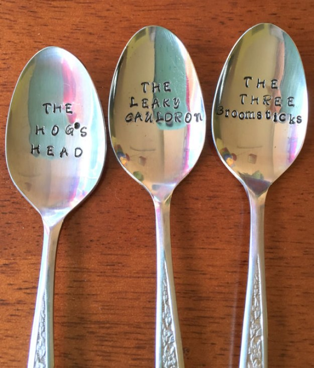 Pub spoons that are a staple for any Harry Potter home.