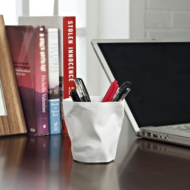 "Because you should start this semester off the ""write"" way, organize your pens and pencils with this pencil-holder cup."