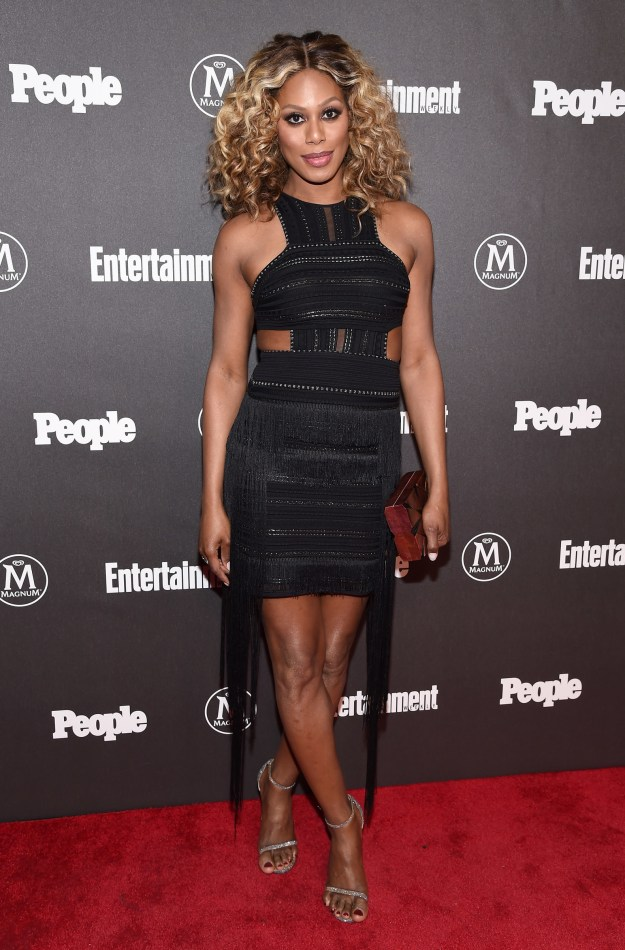 Try some foxy fringe like Laverne Cox: