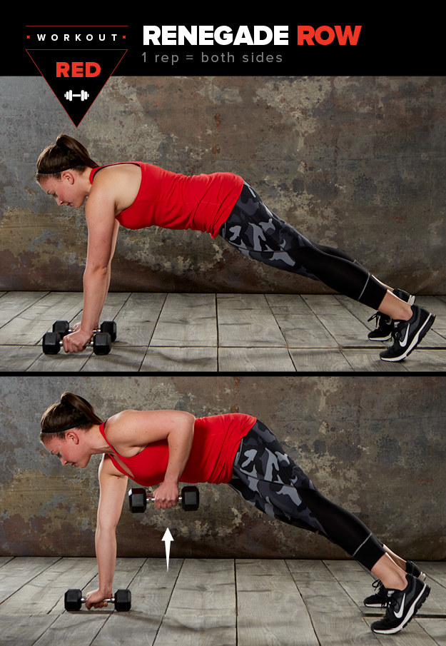 Here's how to do a renegade row: