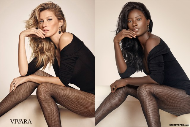"""She collaborated with her photographer boyfriend Raffael Dickreuter to re-create some of the world's biggest modelling campaigns – including ones by Dolce & Gabbana and Victoria's Secret – as """"a call for more diversity"""" in the industry, in a series called Black Mirror. She told BuzzFeed News: """"I thought it was perfect because we are mirroring two images. When you [black women] look in the mirror you question: 'This could be me, why is this not me?"""""""
