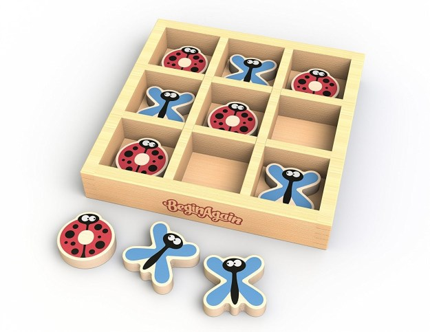 A sweet Tic Tac Toe set with butterflies and ladybugs instead of X's and O's.