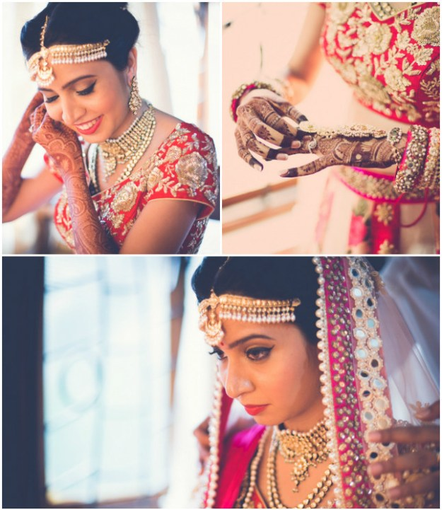 The bride looked gorgeous in her wedding lehenga...
