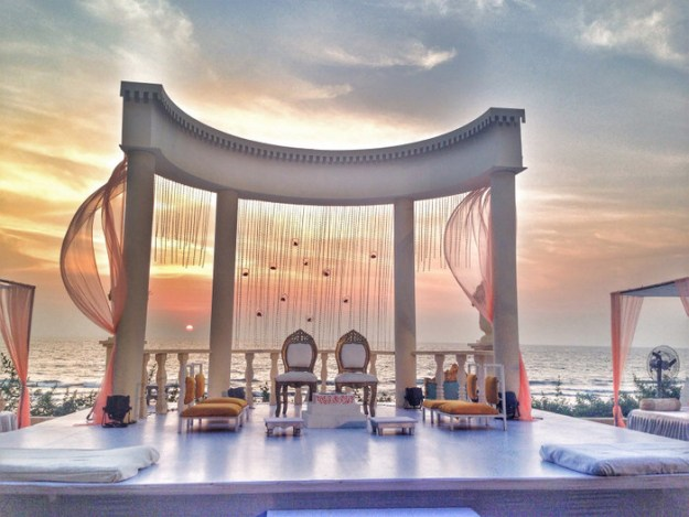 And the wedding stage looked like something out of a movie.
