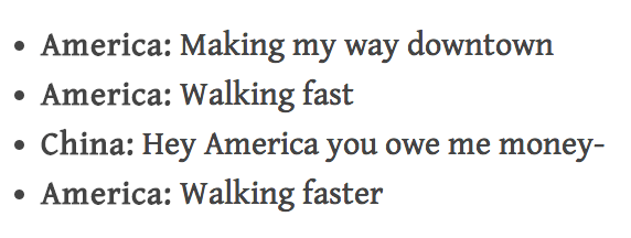 This beautiful song about America's debt: